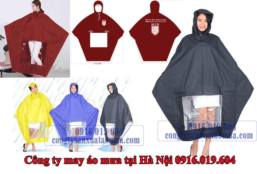 Công ty sản xuất áo mưa cánh dơi in logo tại Hà Nội