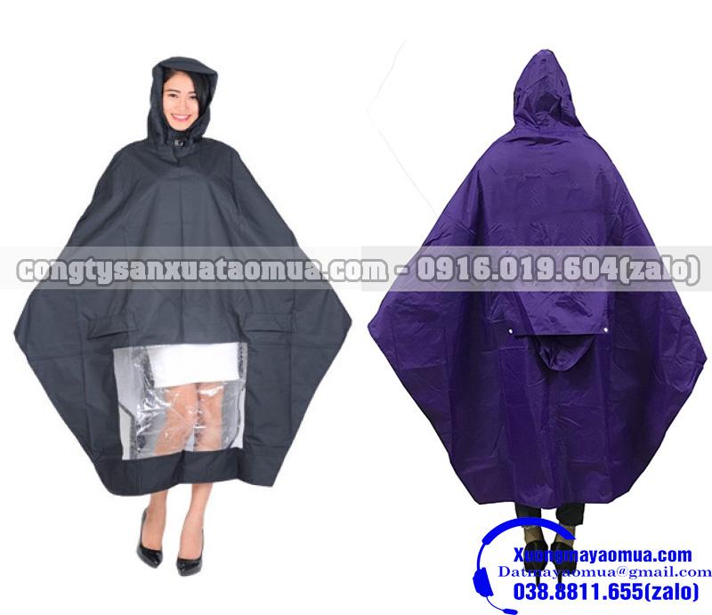 Sản xuất áo mưa cánh dơi 1 đầu và 2 đầu tại Bắc Ninh