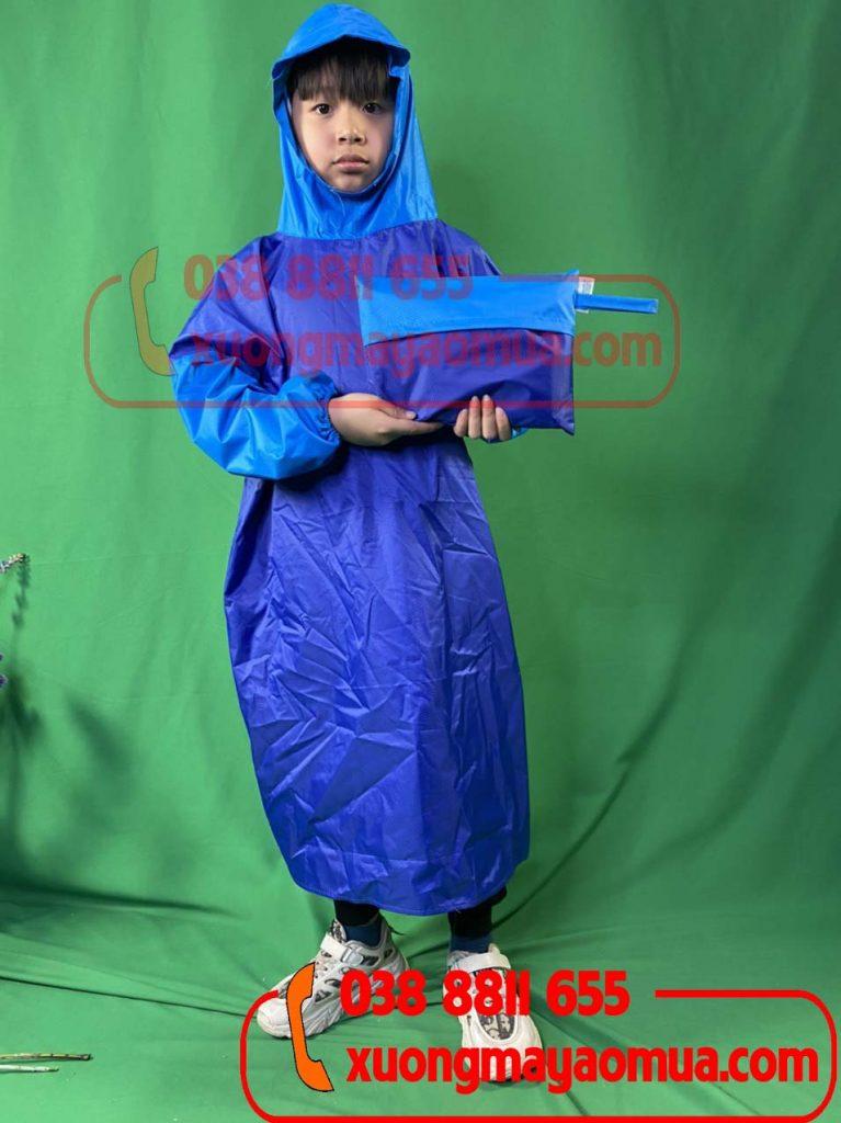May áo mưa bít hông cho trẻ em