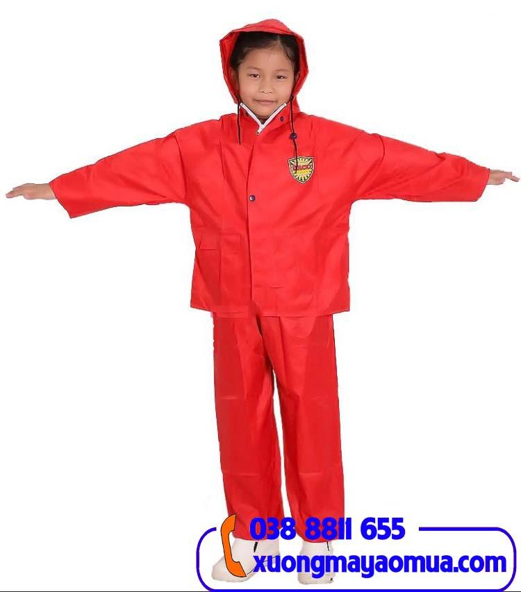 May áo mưa bộ vải dù cho trẻ em giá rẻ