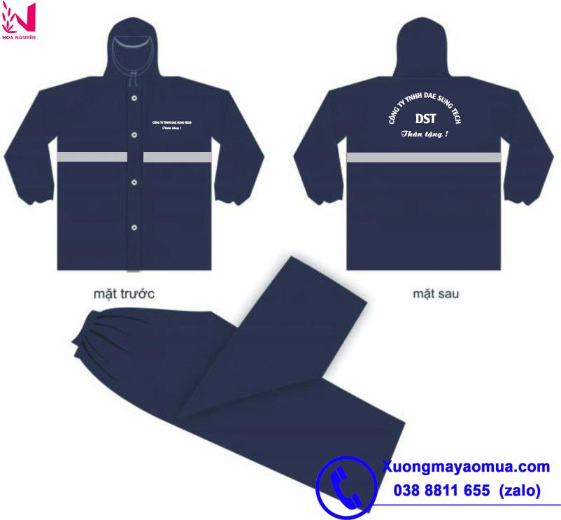 May áo mưa quà tặng in logo cho các công ty, công đoàn tại Quảng Ninh