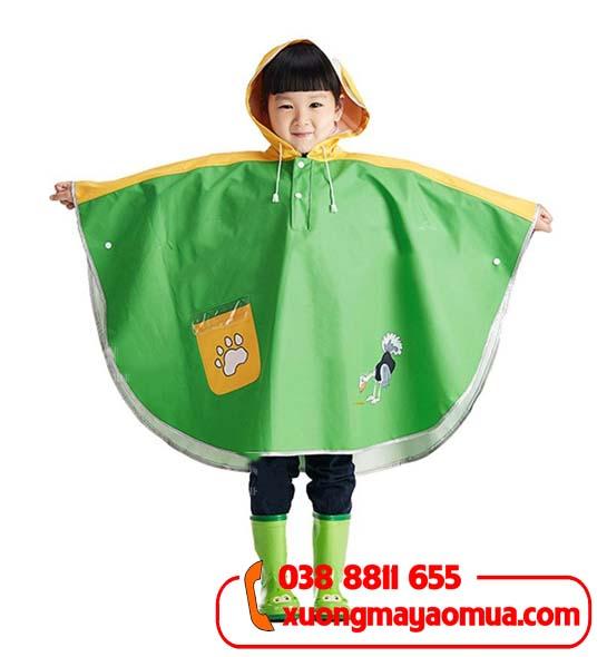 May áo mưa cánh dơi cho trẻ em in hình theo yêu cầu