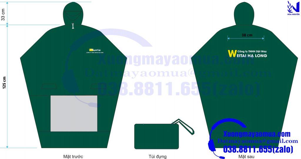 xưởng may áo mưa quà tặng in logo theo yêu cầu cho các công ty, công đoàn tại Quảng Ninh