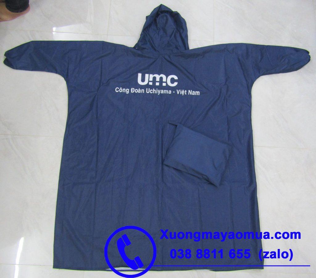 May áo mưa bít hông in logo công đoàn công ty tại Bình Dương