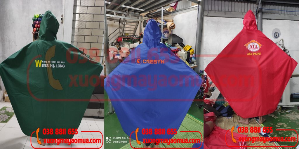May áo mưa cánh dơi quà tặng in logo công ty/ công đoàn