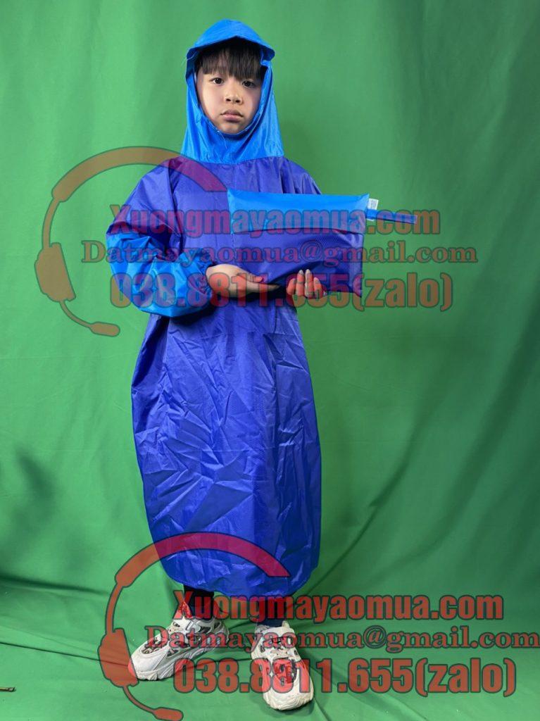 May áo mưa bít hông trẻ em quà tặng tại Vĩnh Phúc và Hà Nam