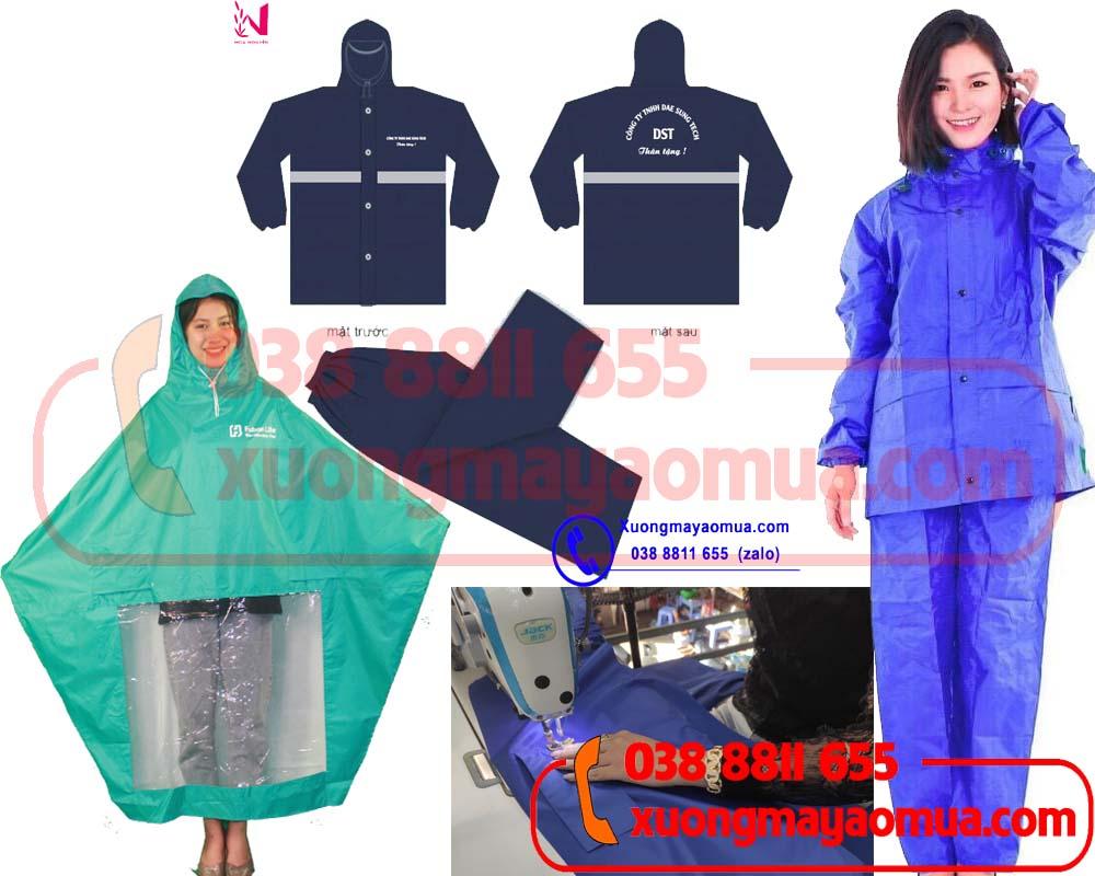 xưởng may áo mưa quà tặng công nhân viên